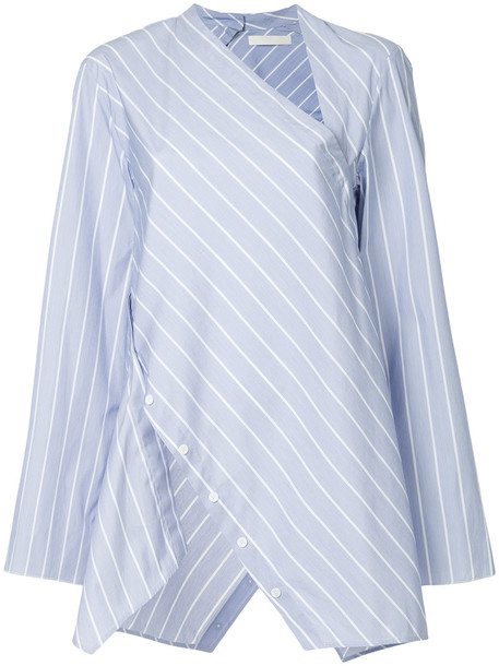 Dion Lee shirt stripe shirt women cotton blue top