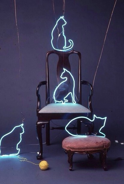 neon light cats cool grunge indie home accessory jewels