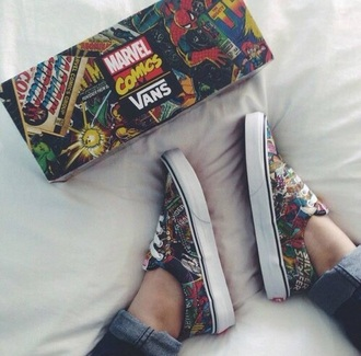 shoes marcel band indie cool shots marvel vans vans of the wall cartoon