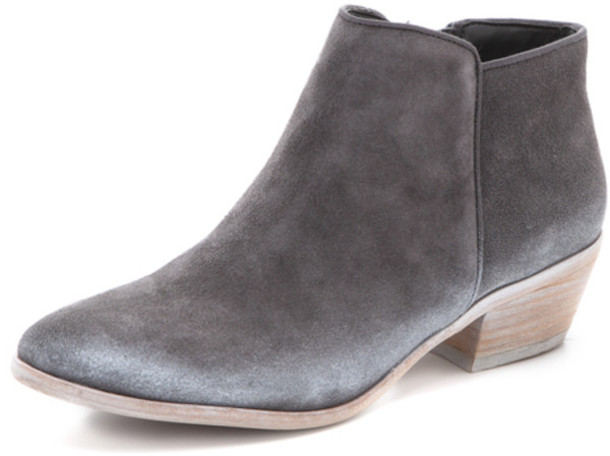 Shoes: grey, suede, ankle boots, ankle boots, sam edelman, boho ...