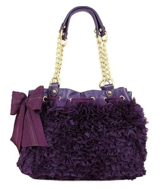 bag juicy couture purse ruffle