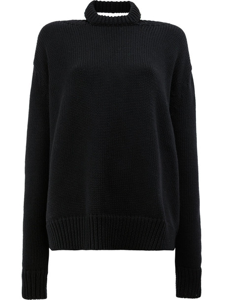 Monse jumper women black wool knit sweater