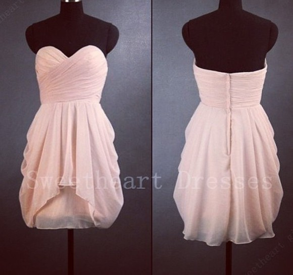 tube dress prom dress dress cute beautiful peach adorable bridesmaids peach dresses bridesmaids dress prom dresses short prom dress