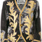 Vivienne westwood - cropped patterned jacket - women - silk/bamboo/cotton - 40, grey, silk/bamboo/cotton