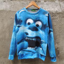 Nouvelle mode des femmes de fantaisie 2014/hommes, bleu, gros monstre hoodies imprimer 3d personnalité dans de sur Aliexpress.com