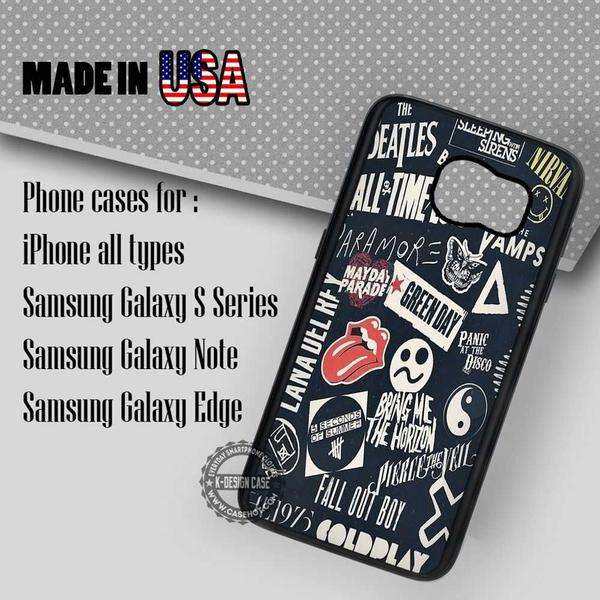Samsung S7 Case - Bands Collage Sleeping with Sirens- iPhone Case #SamsungS7Case #fob #yn