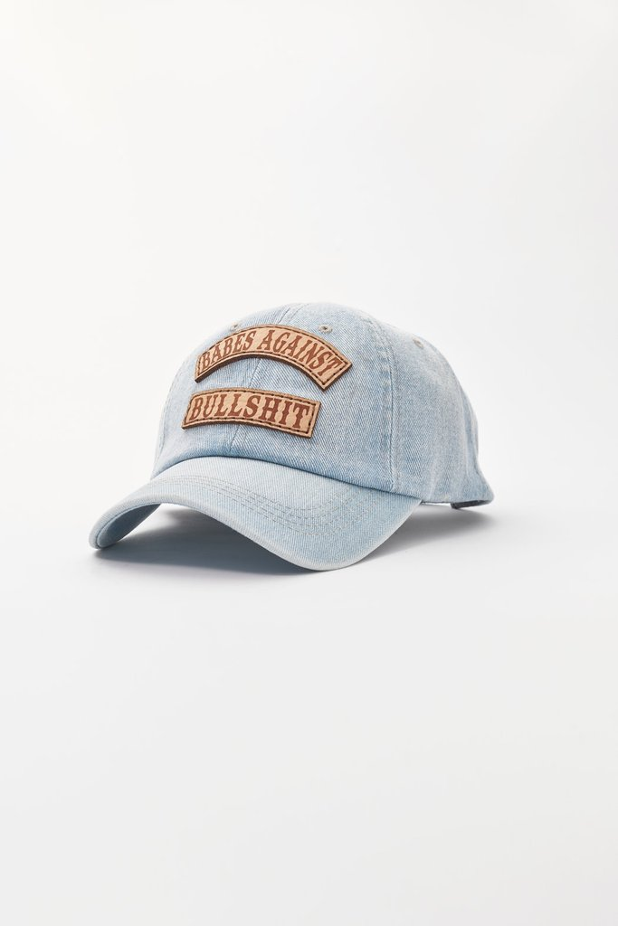 Babes Against Bullshit Denim Baseball Hat