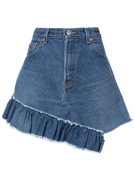 Icons skirt women cotton blue