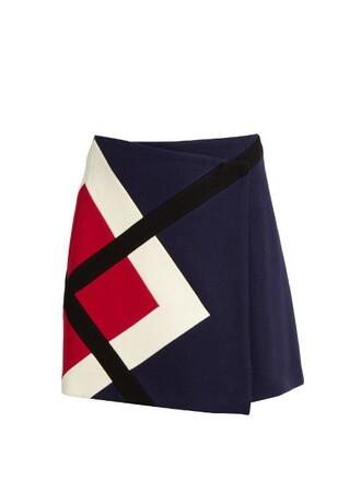 skirt mini skirt mini wool navy