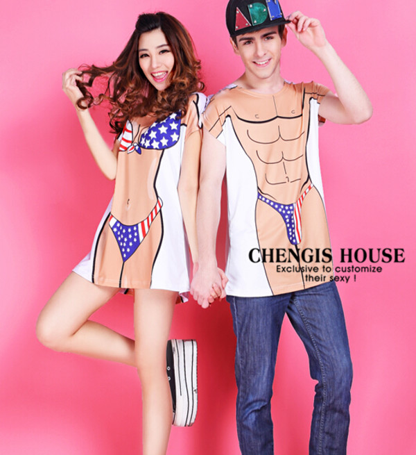 t-shirt matching couples bikini summer fashion shirt streetstyle couple couple sweaters bikini top sexy band t-shirt vintage vogue