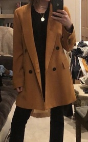 coat,mustard coat,lucy hale tips,blazer,yellow coat,mustard,lucy hale,pretty little liars,wool coat,double breasted