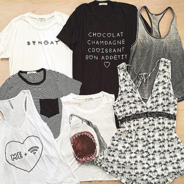 shirt black and white