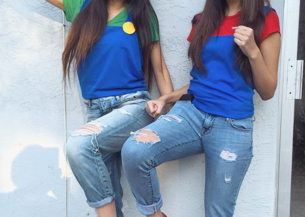 shirt luigi and mario shirt