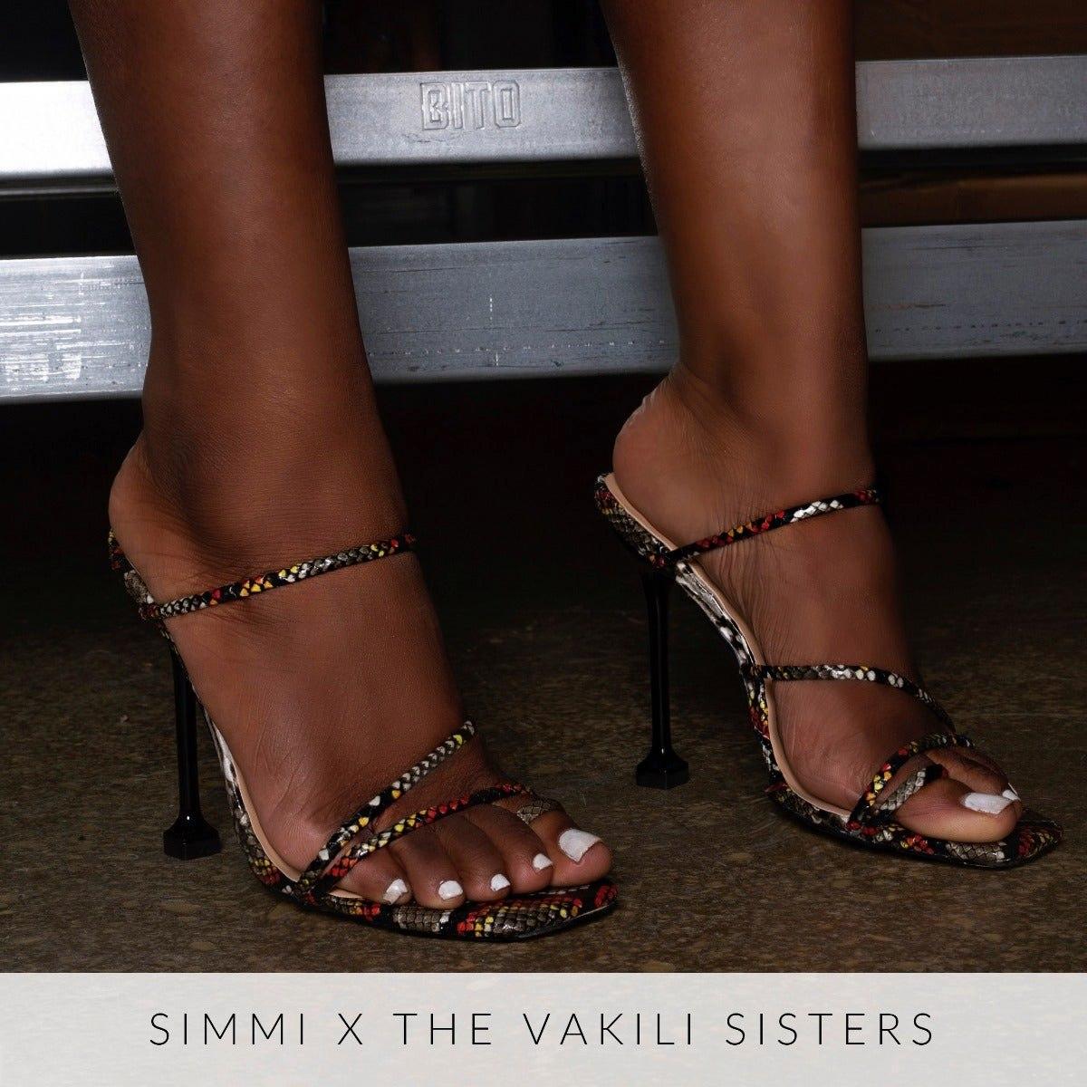 Marni Multi Snake Print Strappy Mule Heels