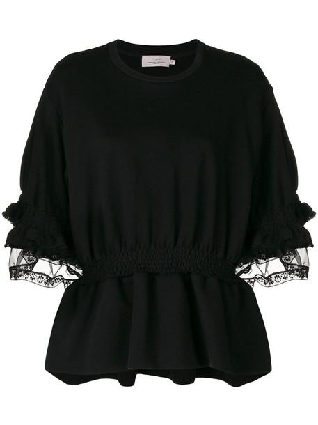 PREEN BY THORNTON BREGAZZI sweatshirt women cotton black silk sweater