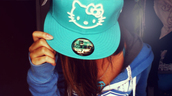 hat,cute,hello kitty,flat bill,blue,fitted hat,new era hat,aqua,hello,cats,cap,hellokittycap,newera,new,era,socute,lovehellokitty,teal