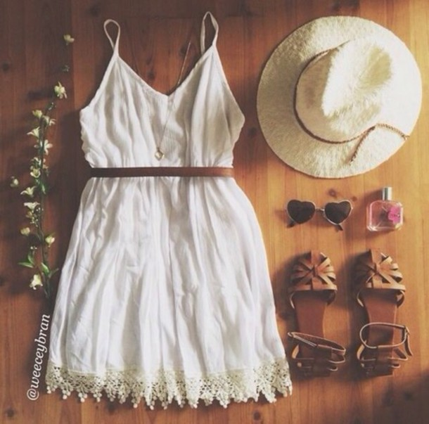 dress white dress sundress boho dress cream/white dress