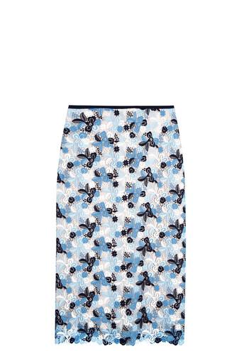 skirt lace skirt lace blue