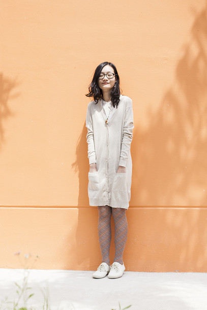 pupuren blogger cardigan tights top shoes jewels