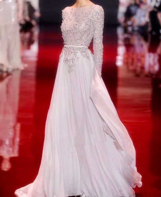 Beaded Chiffon Long Dresses