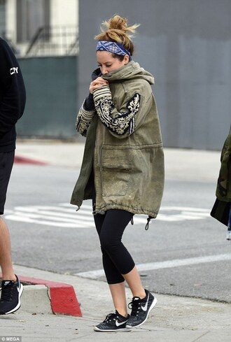 jacket ashley tisdale military style fall outfits