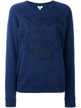sweatshirt tiger blue sweater