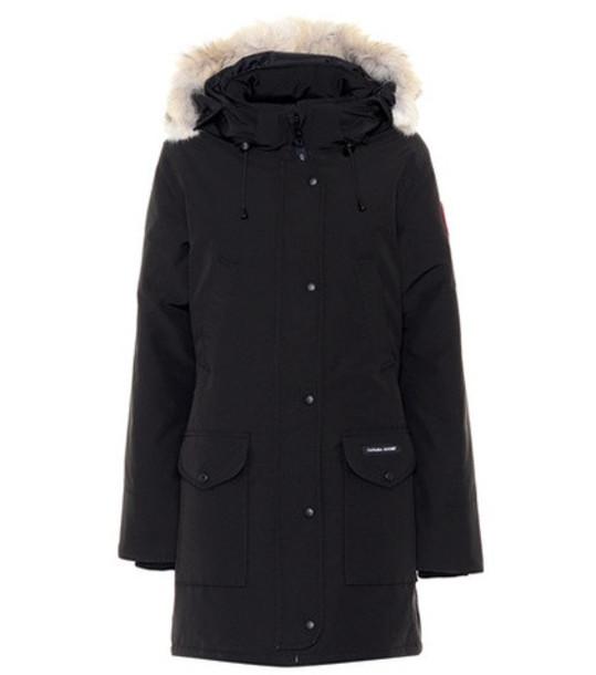 Canada Goose Trillium fur-trimmed hooded parka in black