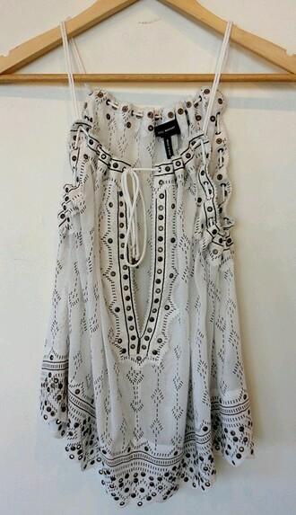 top boho dress white dress summer dress