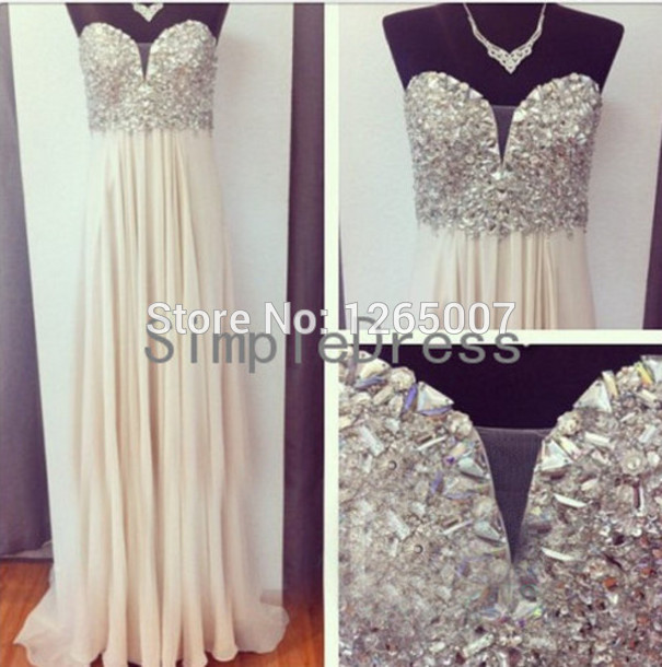 Aliexpress.com : Buy Sweetheart Simple Sweetheart Beaded Crystal Rhinestones Ruffles Fashion A Line Summer Prom Dresses Pargent Fashion Gowns from Reliable gowns for big women suppliers on SFBridal