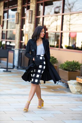 jadore-fashion blogger skirt tank top top shoes coat