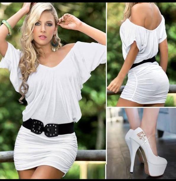 dress white dress cute