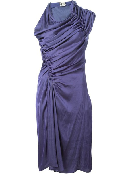lanvin dress draped dress draped purple pink