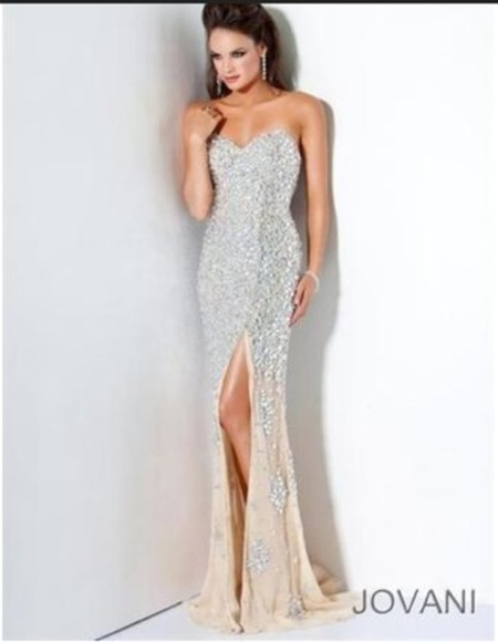 long dress nude dress long prom dress brautiful dress dress jovani maybe cheaper!