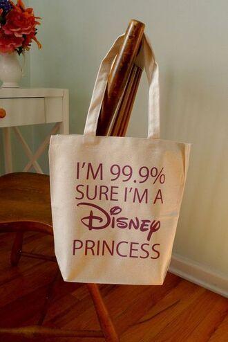 bag hip disney princess tote bag