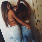 jeans,blue jeans,summer,hot,blue,girl,swimwear,usa,white,colorful,high tops,denim,urban,swag,brunette,bum,booty,butt,tight,cool,street,high waisted jeans