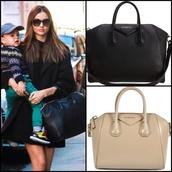 bag,givenchy,givenchy style,black,miranda kerr,beige,elegant,coat