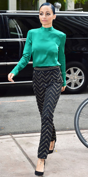 pants,nicole richie,blouse,fall outfits,shoes,top