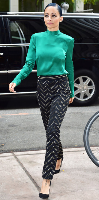 nicole richie pants shoes blouse fall outfits