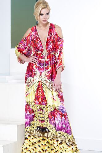 dress baccio baccio couture print red dress silk dress bikiniluxe