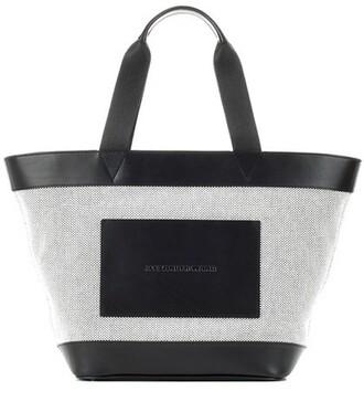bag tote bag leather black