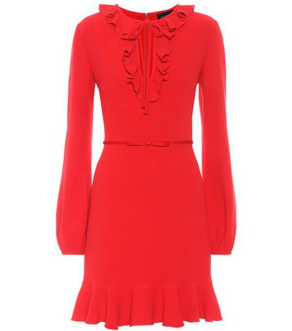 Giambattista Valli Ruffled crêpe mini dress in red