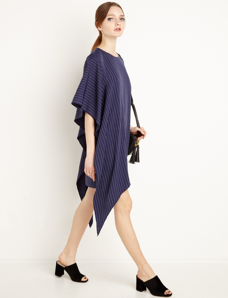 Cameo Disposition Dress - Striped T Shirt Dress -