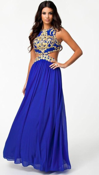 blue and gold dresses - Dress Yp