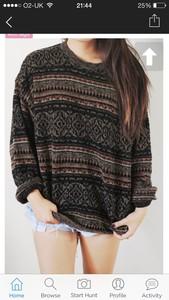 aztec woollen jumper