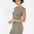 The Final Round Hem Midi Dress OLIVE MARSALA BLACK - GoJane.com
