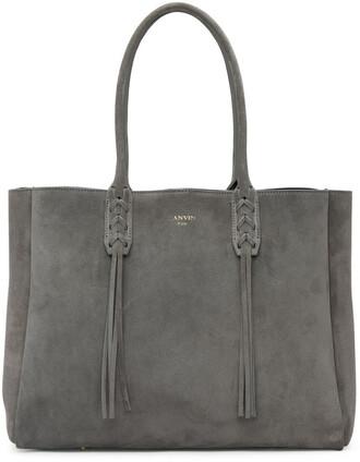 suede grey bag