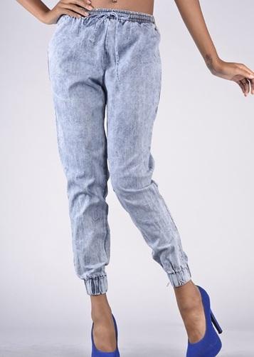 Denim Jogger Pants - JuJu's Closet