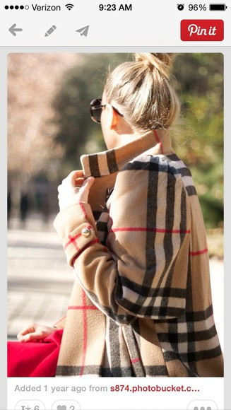 burberry plaid coat