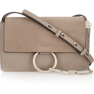 Chloé Faye small leather and suede shoulder bag 5790383ab455