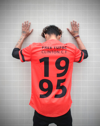 shirt tupac shirt tupac menswear urban menswear mens t-shirt orange